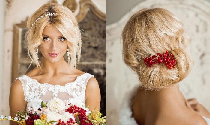 Свадебные прически на средние волосы с фатой для полных